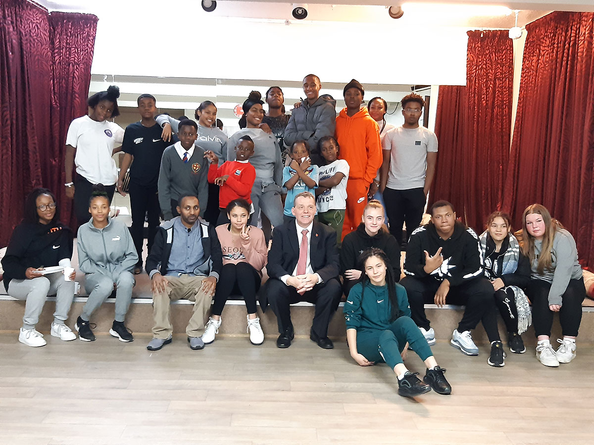 A visit by the leader of Barking & Dagenham Council, Councillor Darren Rodwell